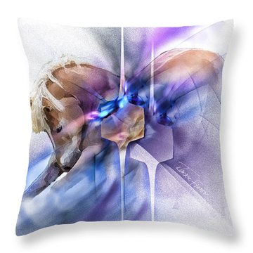 Horse Prayer Throw Pillow