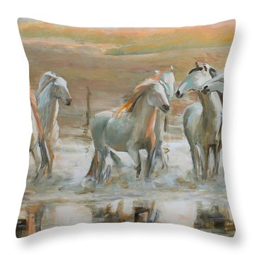 Horse Reflection Throw Pillow