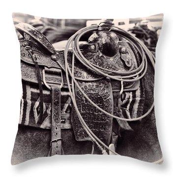 Horse Saddle Throw Pillow