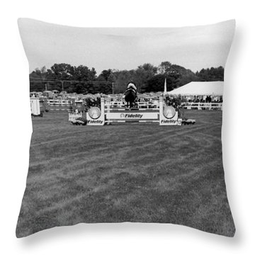 Horse Show  Throw Pillow