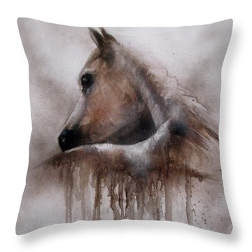 Horse Shy Throw Pillow