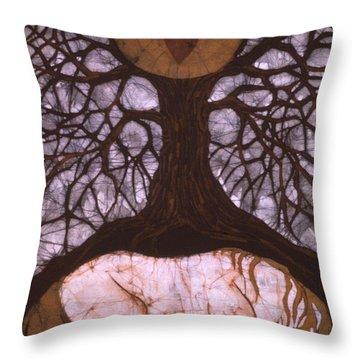 Horse Sleeps Below Tree Of Rebirth Throw Pillow by Carol  Law Conklin
