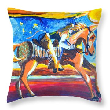 Horse Whisperer Throw Pillow