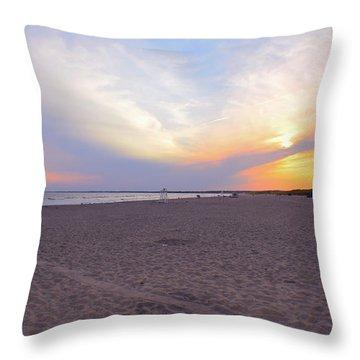 Horseback Beach  Throw Pillow