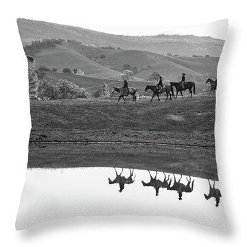 Horseback Landscape Throw Pillow