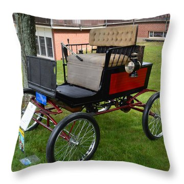 Horseless Carriage-c Throw Pillow