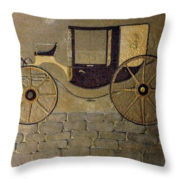 Horseless Carriage Throw Pillow
