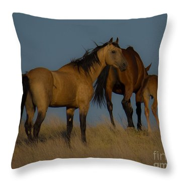 Horses 1 Throw Pillow