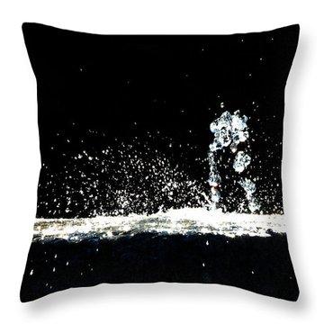 Horses And Men In Rain Throw Pillow
