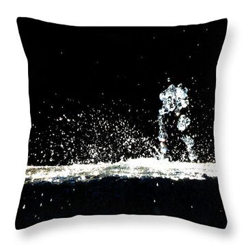 Horses And Men In Rain Throw Pillow