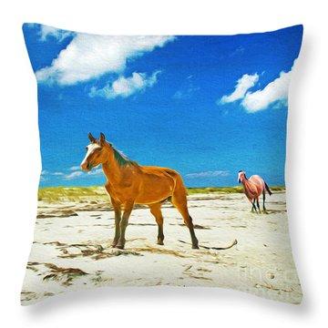 Horses Of Cumberland Throw Pillow