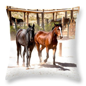 Horses Unlimited_6a Throw Pillow