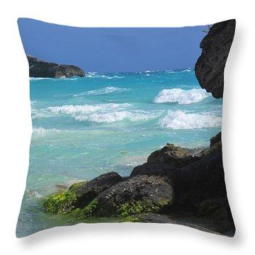 Horseshoe Bay Rocks Throw Pillow by Ian  MacDonald