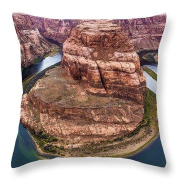 Horseshoe Bend - Aqua Throw Pillow