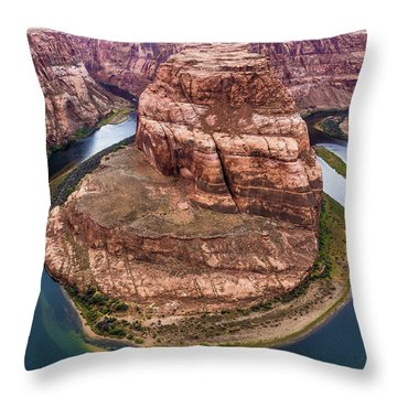 Horseshoe Bend - Aqua Throw Pillow