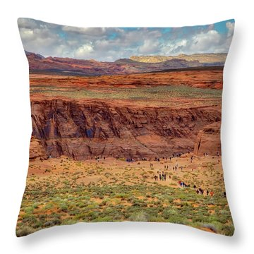 Throw Pillow featuring the photograph Horseshoe Bend Arizona #2 by Jennifer Rondinelli Reilly - Fine Art Photography