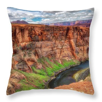 Throw Pillow featuring the photograph Horseshoe Bend Arizona - Colorado River #5 by Jennifer Rondinelli Reilly - Fine Art Photography