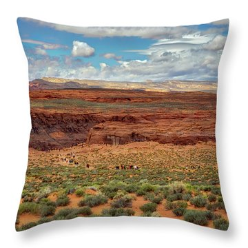Throw Pillow featuring the photograph Horseshoe Bend  - Arizona by Jennifer Rondinelli Reilly - Fine Art Photography
