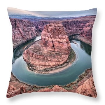 Horseshoe Bend Arizona Throw Pillow