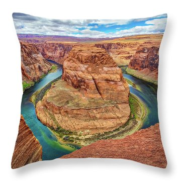 Throw Pillow featuring the photograph Horseshoe Bend - Colorado River - Arizona by Jennifer Rondinelli Reilly - Fine Art Photography