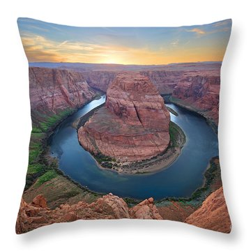 Horseshoe Bend Colorado River Arizona Throw Pillow
