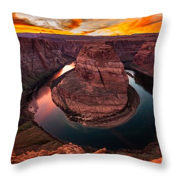 Throw Pillow featuring the photograph Horseshoe Bend, Colorado River, Page, Arizona  by Bryan Mullennix