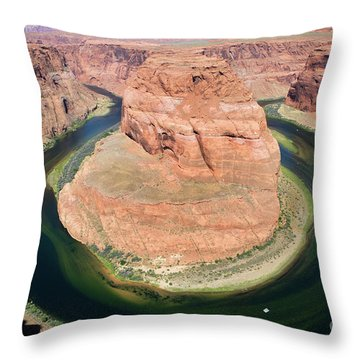 Horseshoe Bend Colorado River Throw Pillow