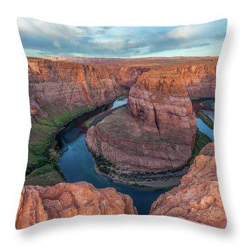 Horseshoe Bend Morning Splendor Throw Pillow