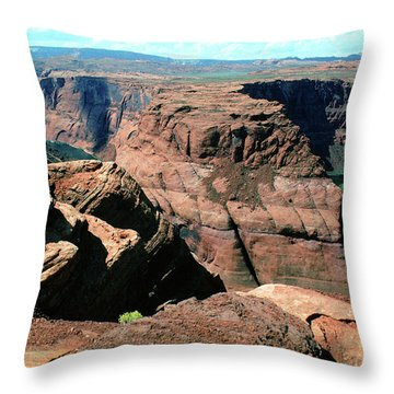 Horseshoe Bend Of The Colorado River Throw Pillow by Wernher Krutein