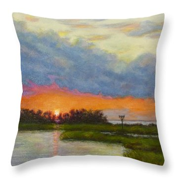 Horseshoe Cove Sunset Throw Pillow