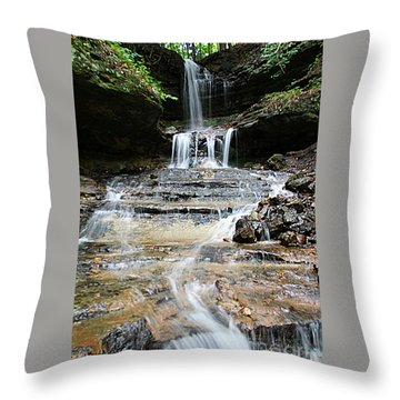 Throw Pillow featuring the photograph Horseshoe Falls #6735 by Mark J Seefeldt