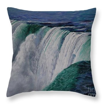 Niagara Falls The Horseshoe Throw Pillow