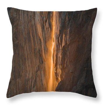Horsetail Fall 1 Yosemite Throw Pillow