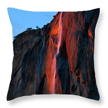 Horsetail Falls 2016 Throw Pillow