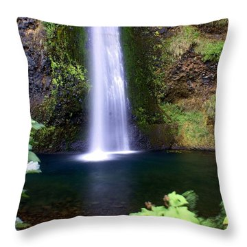 Horsetail Falls Throw Pillow by Marty Koch