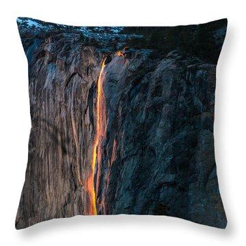 Horsetail Water Fall Glow Throw Pillow