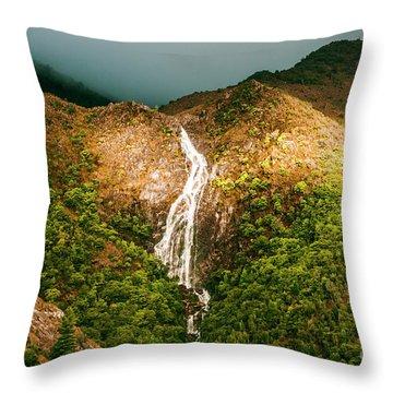 Horsetail Waterfalls Tasmania  Throw Pillow