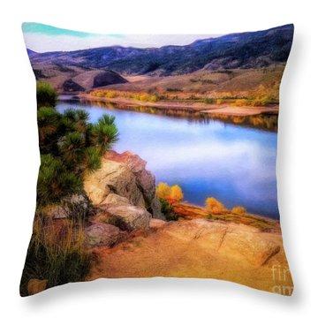 Horsetooth Lake Overlook Throw Pillow