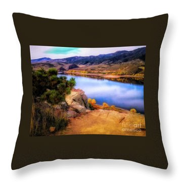 Horsetooth Lake Overlook Throw Pillow