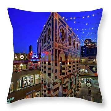 Horton Plaza Shopping Center Throw Pillow