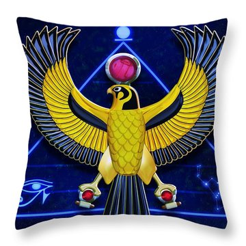 Horus Egyptian Sun God Throw Pillow
