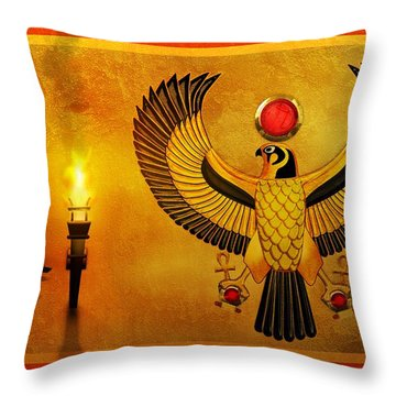 Horus Falcon God Throw Pillow