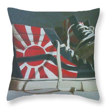 Hosoi Vans Throw Pillow