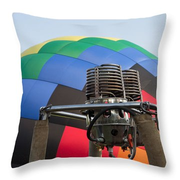 Hot Air Balloning Throw Pillow