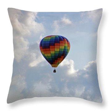 Throw Pillow featuring the photograph Hot Air Balloon by Angela Murdock