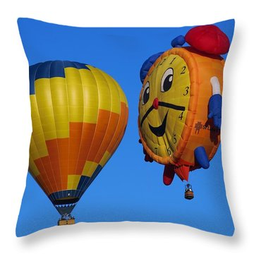 Hot Air Balloon Conversation Throw Pillow