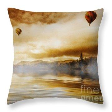 Hot Air Balloon Escape Throw Pillow