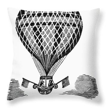 Hot Air Balloon Throw Pillow by Granger