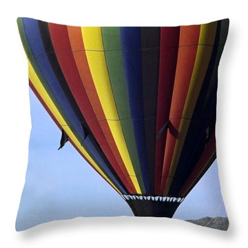 Hot Air Balloon  Throw Pillow by Sally Weigand