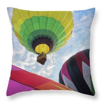 Hot Air Balloon Takeoff Throw Pillow